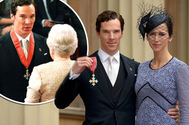 main-actor-benedict-cumberbatch-with-his-wife-sophie-hunter-pose-for-pictures-after-he-received-the-cbe-commander-of