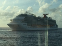 A Carnival ship lost a bet and had to depart before everyone else